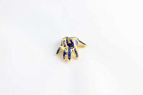 Cobalt, Platinum & Gold Baby Hand Pendant