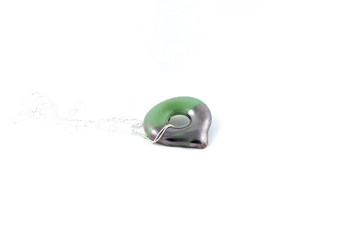 La Traviata Pendant green and silver