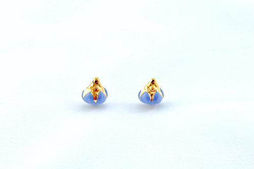 Queens Gold, blue and gold earrings