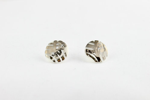 "White Silver Earrings N°2- ""Ambiguous"" Collection"
