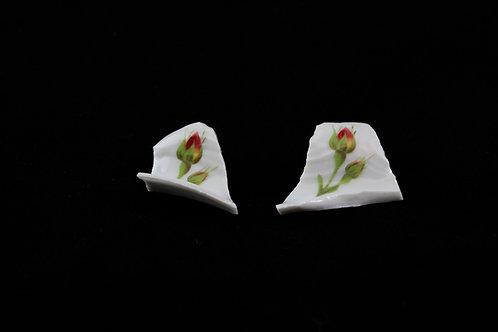 "Rose Earrings Gold Earrings N°3- ""Broken Collection""- ""Broken Collection"""