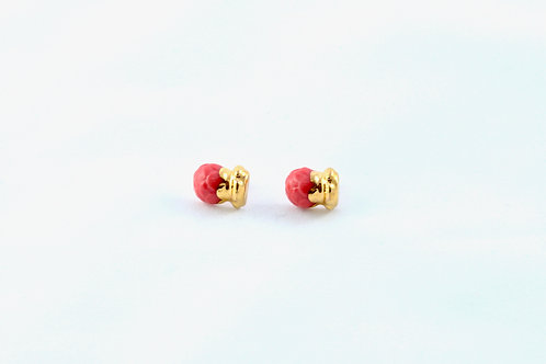 Queens Gold, red gold Bud earrings