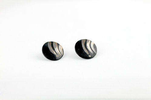 """Black Silver Earrings N°3- """"Ambiguous"""" Collection"""