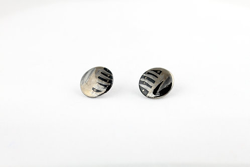 "Black Silver Earrings N°8- ""Ambiguous"" Collection"