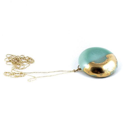 La Traviata Pendant with brooch aquamarine and gold