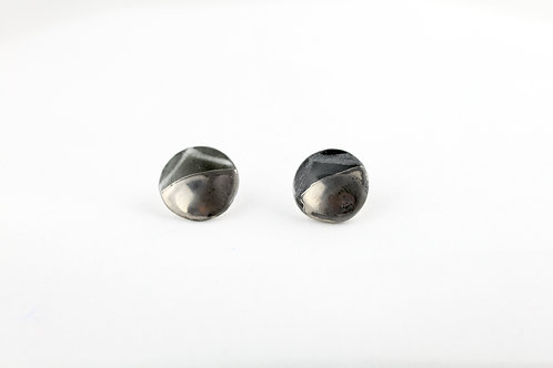 "Black Silver Earrings N°18 - ""Ambiguous"" Collection"