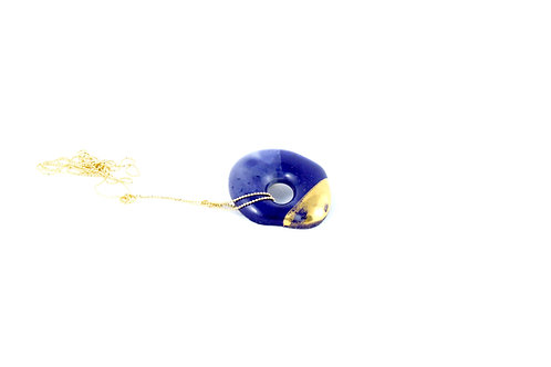 La Traviata pendant cobalt blue and gold