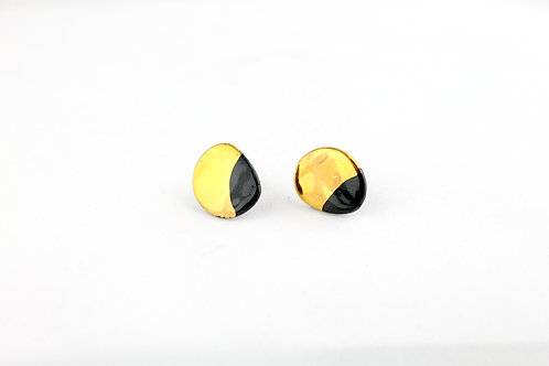 "Black Gold Earrings N°11- ""Ambiguous"" Collection"
