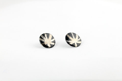 """Black Silver Earrings N°9- """"Ambiguous"""" Collection"""