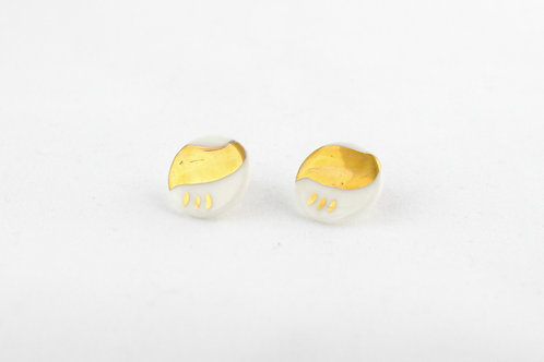 """White Gold Earrings N°5- """"Ambiguous"""" Collection"""