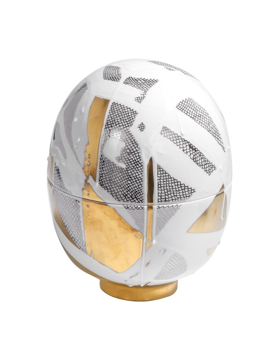 Egg Vessel Gold and Platinum Meissen