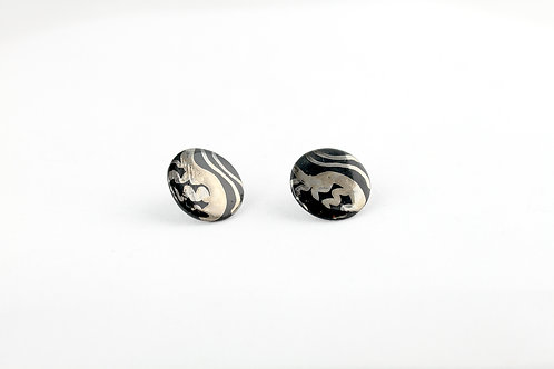 """Black Silver Earrings N°4- """"Ambiguous"""" Collection"""