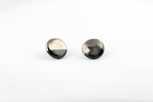 """Black Silver Earrings N°19 - """"Ambiguous"""" Collection"""