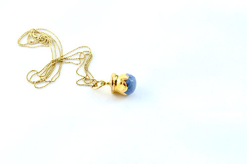 Queens Gold, cobalt gold Bud pendant