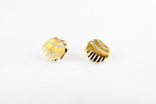 "White Gold Earrings N°3- ""Ambiguous"" Collection"