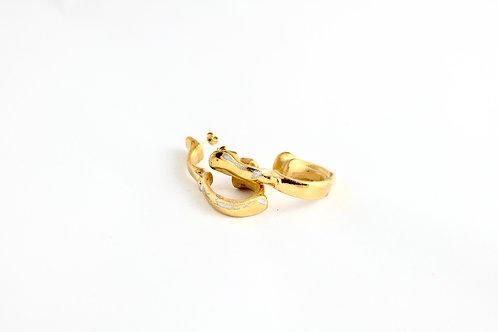 Handle Rustic Gold earrings
