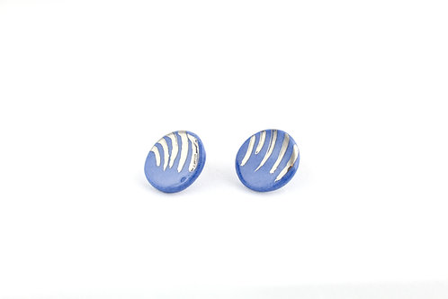 "Cobalt Silver Earrings N°2 - ""Ambiguous"" Collection"