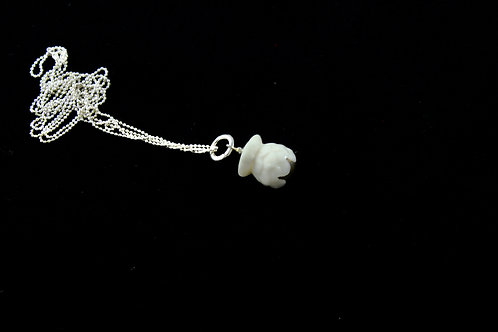 Queens Silver, white silver Bud pendant