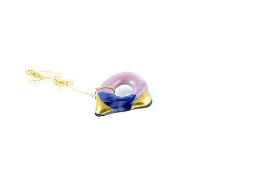 La Traviata pendant cobalt, liila and gold