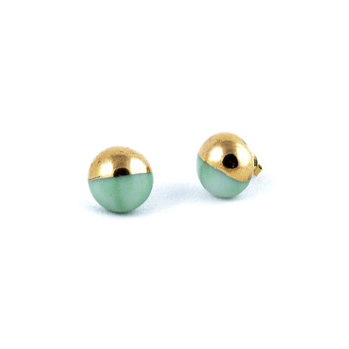 La Traviata Earrings aquamarine gold
