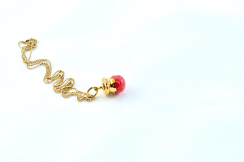 Queens Gold, red gold Bud pendant
