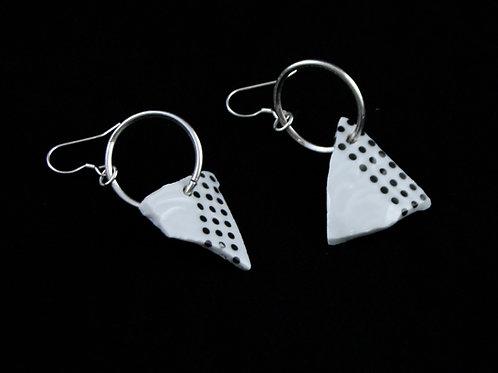 "Dots Earrings- ""Broken Collection"""