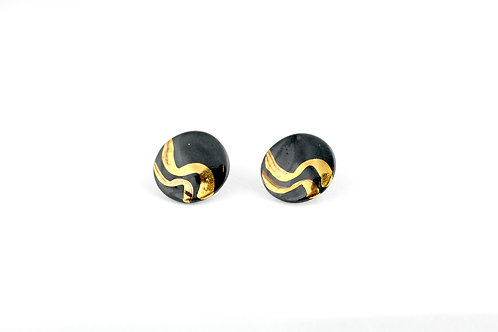 "Black Gold Earrings N°6- ""Ambiguous"" Collection"