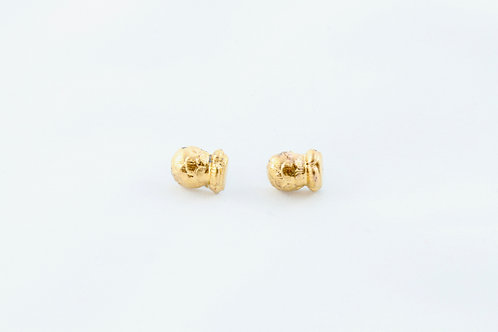 Queens Gold, gold Bud earrings