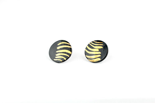 "Black Gold Earrings N°7- ""Ambiguous"" Collection"