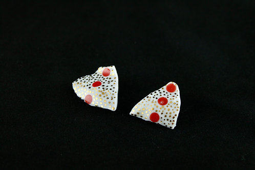 """Gold Dots  Earrings- """"Broken Collection"""""""