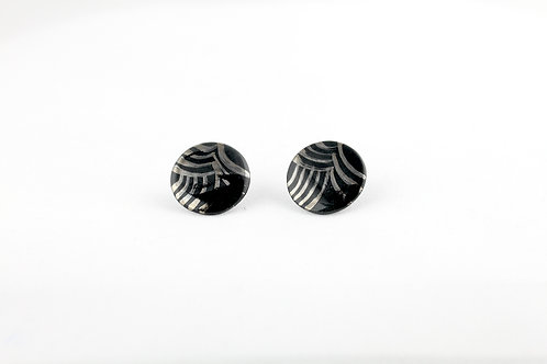 "Black Silver Earrings N°1- ""Ambiguous"" Collection"