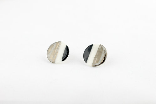 """White Silver Earrings N°7- """"Ambiguous"""" Collection"""