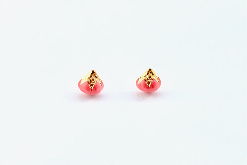 Queens Gold, red and gold earrings