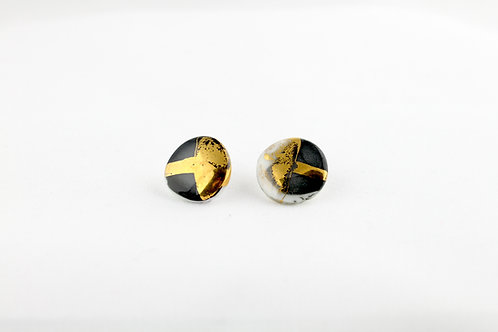 "Black Gold Earrings N°18- ""Ambiguous"" Collection"