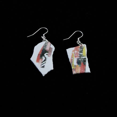 "Cubism Earrings- ""Broken Collection"""