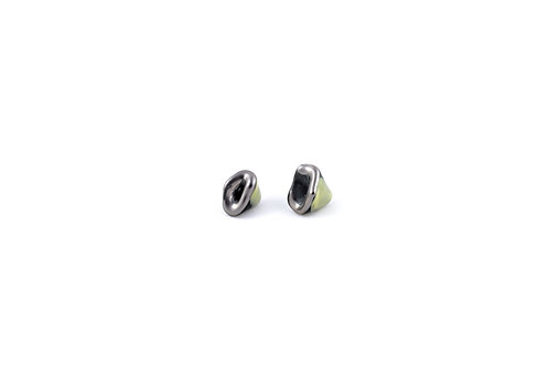 La Traviata Earrings yellow, dark green and silver