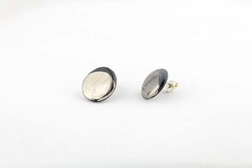 "Black Silver Earrings N°20 - ""Ambiguous"" Collection"