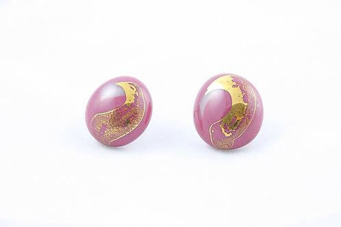 La Traviata Earrings purple and gold