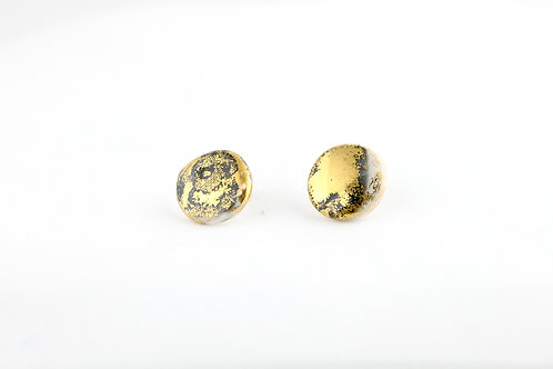 """Black Gold Earrings N°19- """"Ambiguous"""" Collection"""