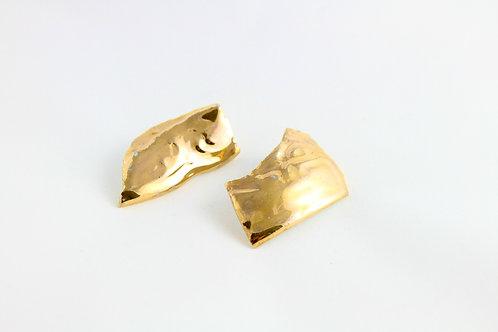 "Gold Earrings N°2- ""Broken Collection"""
