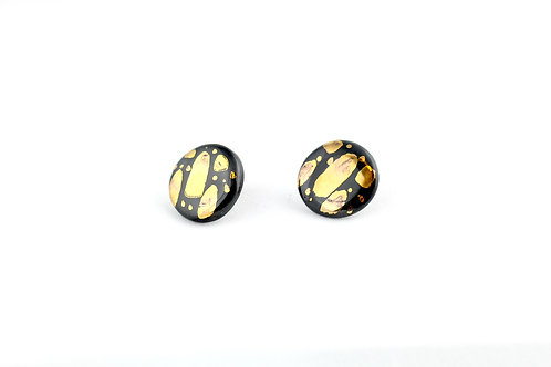 """Black Gold Earrings N°2- """"Ambiguous"""" Collection"""