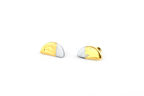 """White Gold Earrings N°2- """"Ambiguous"""" Collection"""