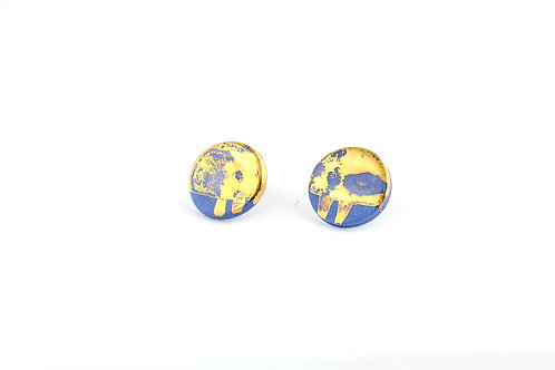 """Cobalt Gold Earrings N°7 - """"Ambiguous"""" Collection"""