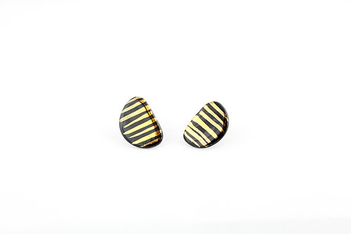 """Black Gold Earrings N°16- """"Ambiguous"""" Collection"""