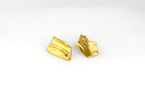 "Gold Earrings N°3- ""Broken Collection"""