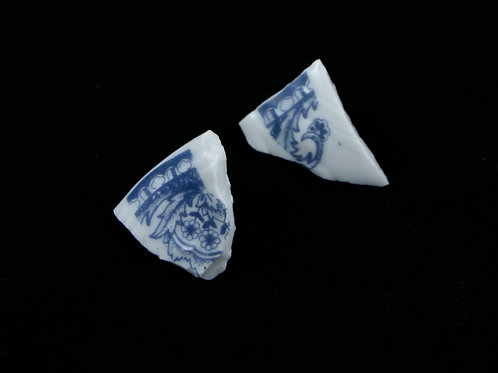 "Blue Delft Earrings N°1- ""Broken Collection"""