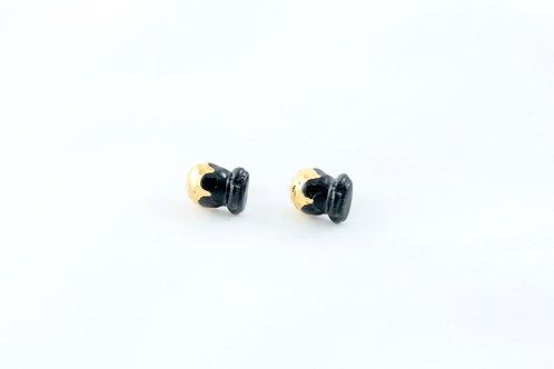 Queens Gold, black gold Bud earrings