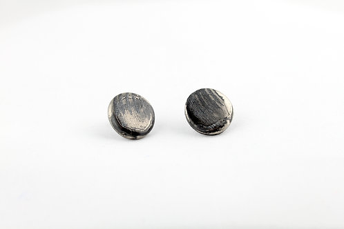 """Black Silver Earrings N°17 - """"Ambiguous"""" Collection"""