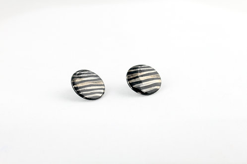 "Black Silver Earrings N°10- ""Ambiguous"" Collection"