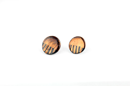 "Black Rose Gold Earrings N°5- ""Ambiguous"" Collection"